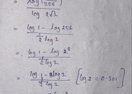 What is the logarithm of 1/256 to the base 2√2.